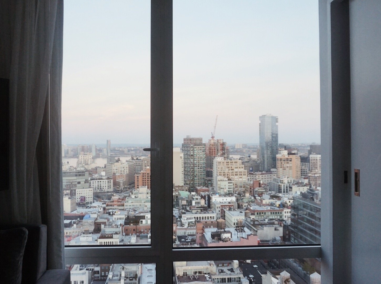 The view from the Nomo Soho Hotel NYC