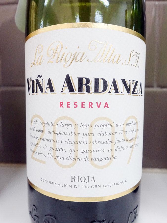 La Rioja Alta Viña Ardanza Reserva 2009 (93 pts)