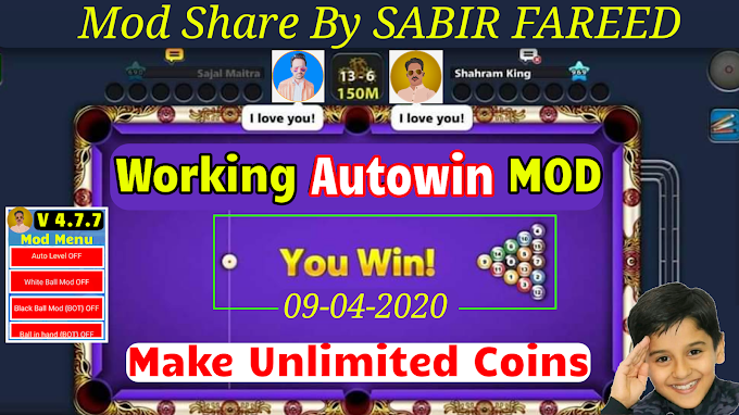 8 Ball Pool Autowin Mod Versoin 4.7.7 || Share By SABIR FAREED
