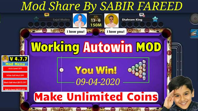 8 Ball Pool Autowin Mod Versoin 4.7.7    Share By SABIR FAREED