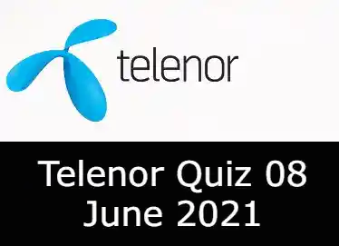 8 June Telenor Answers Today   Telenor Quiz Today 8 June 2021