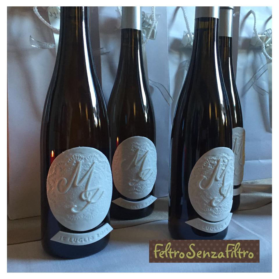 Bomboniere Vino Matrimonio.Feltrosenzafiltro Bomboniere Per Matrimonio Con Bottiglie Di Vino