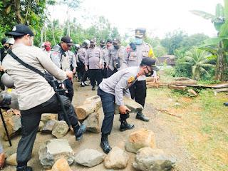 Kapolres Purworejo: Sudah diimbau Tetapi Tidak Ditanggapi Aksi Anarkis Dibubarkan Polisi