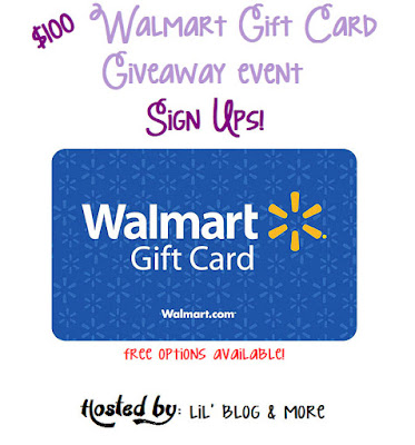 #BloggerOpp~ $100 Walmart Gift Card Giveaway Event