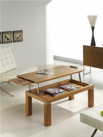 Mesa de centro modelo zenit medida 105x55 con dos for Muebles para departamentos reducidos
