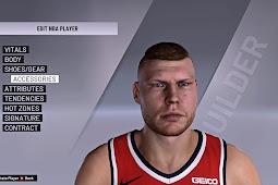 NBA 2K20 Davis Bertans Cyberface converted from NBA 2K21 by Shuajota