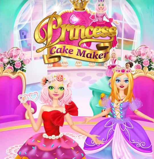 Game Rainbow princes cake maker – kids cooking games
