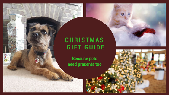 Christmas gift guide cats and dogs and christmas trees
