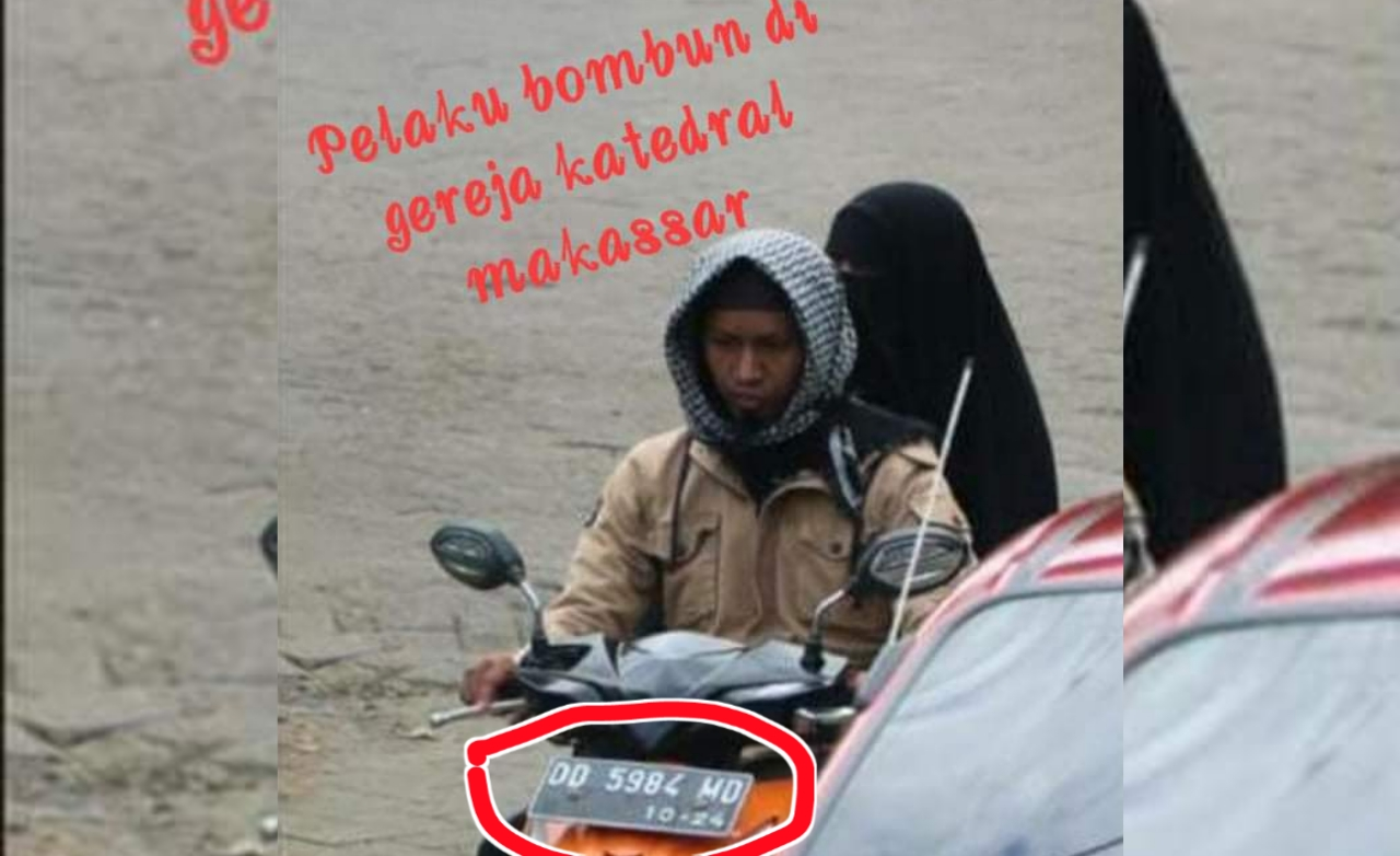 Ini Foto Pasangan Terduga Pelaku Bom Bunuh Diri Makassar Sebelum Ledakkan Diri