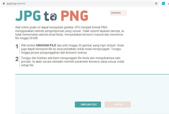 Cara Converter JPG Ke PNG April 2020 https://jpg2png.com/id/