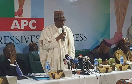 Buhari at APC NEC