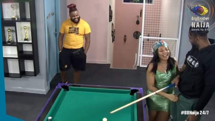 BBNaija: Reactions as Queen grabs what makes Cross a man