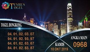 Prediksi Togel Angka Hongkong Kamis 10 Oktober 2019