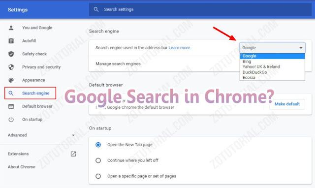 Menjadikan Google Sebagai Default Search Engine Browser - zotutorial.com