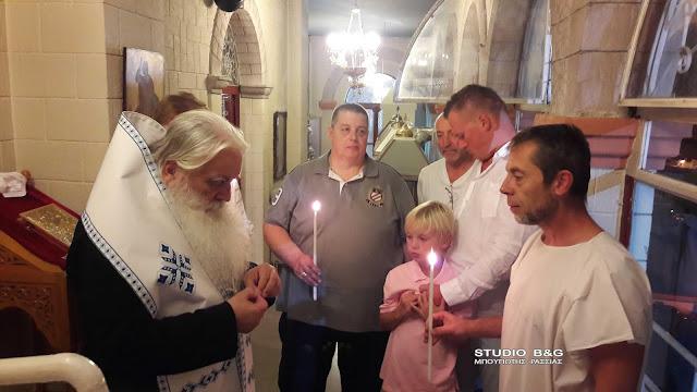 Ο δισέγγονος του Αγίου Λουκά του Ιατρού βαπτίστηκε στο Ναύπλιο