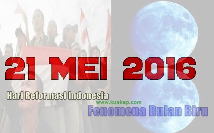 Pada Hari ini, Hari Reformasi 21 Mei Ada Juga Fenomena Alam Blue Moon / Bulan Biru Sabtu ini 2016