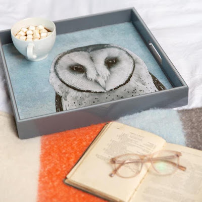 Owl Serving Tray in use