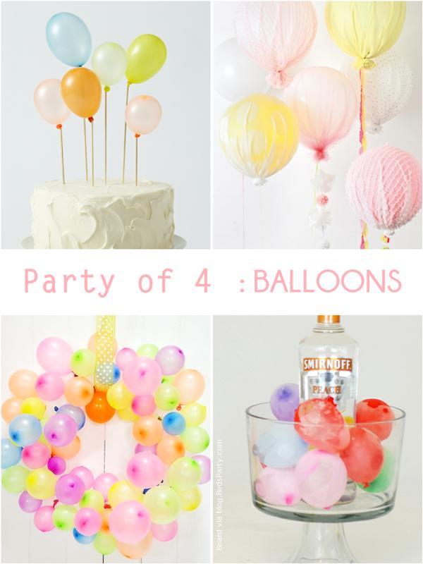 Party de 4 | Idées de Fetes Ludique avec des Ballons | BirdsParty.fr