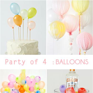 Party de 4   Idées de Fetes Ludique avec des Ballons