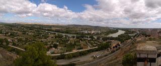 Panorámica del Ebro desde Tudela