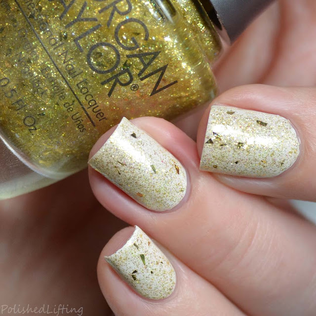 gold nail polish topper