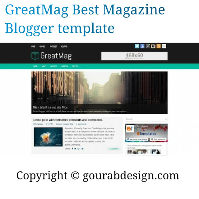 Greatmag premium blogger template