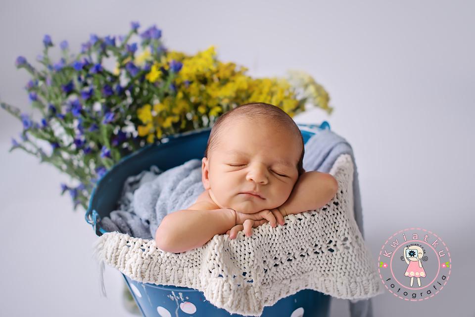 Polne kwiatki i dziecko