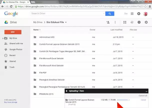 Google Drive - Upload Files and Folder