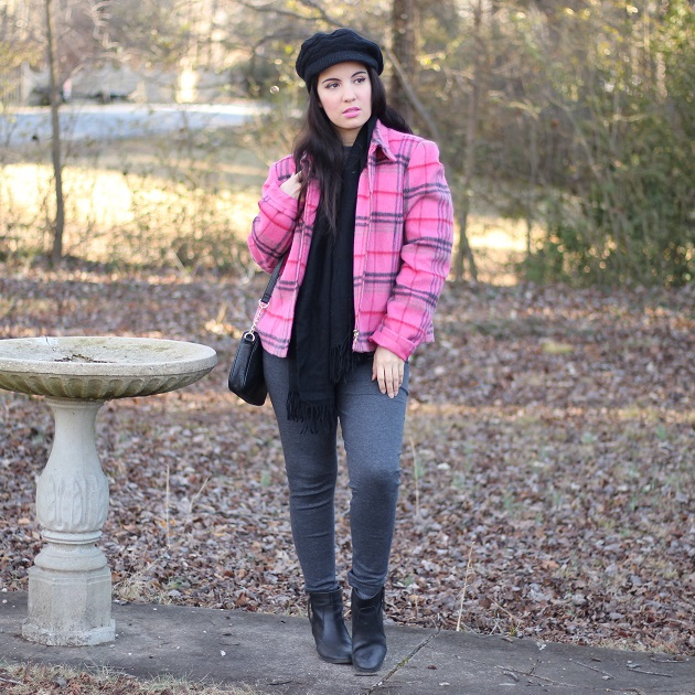 Pink Plaid Jacket