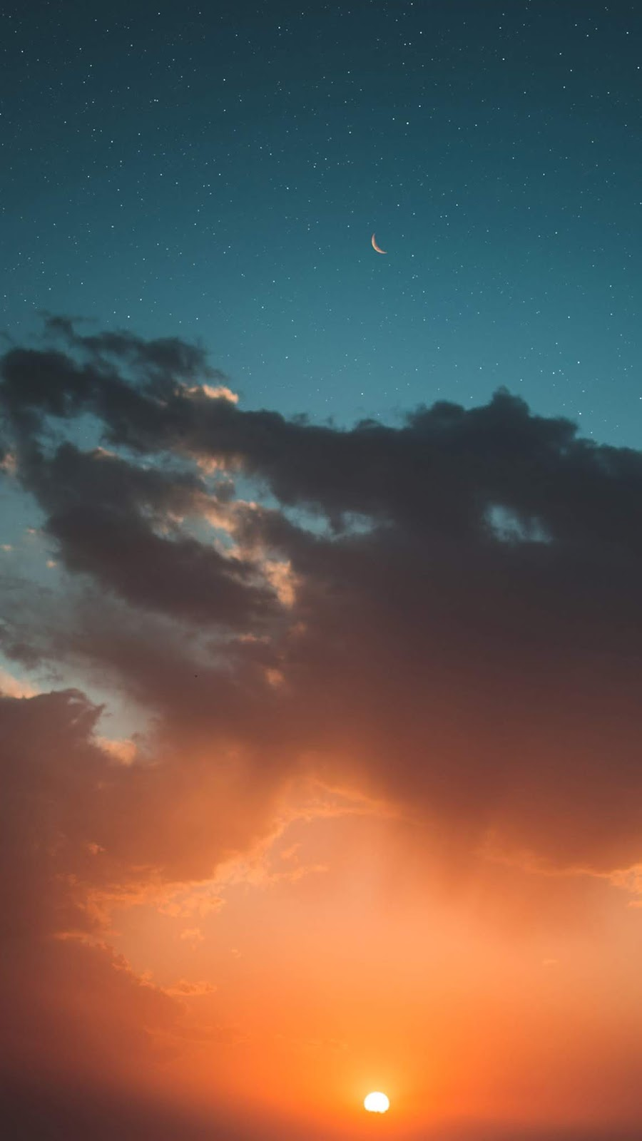 Sunset night sky