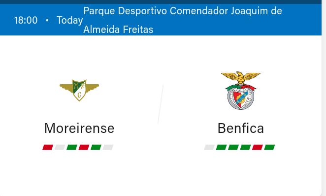 Moreirense vs Benfica Football Preview and Predictions 2021