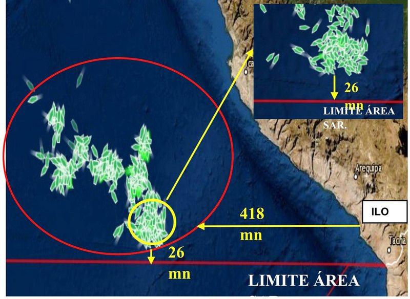 Capitán de la Armada da detalles de la flota pesquera china de 365 barcos que se aproxima a Chile