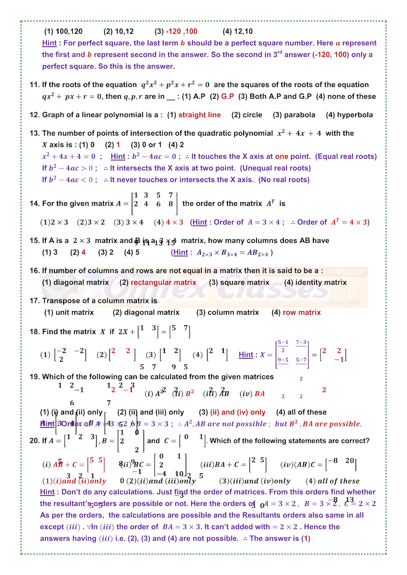 10th STD IMPORTANT MATHS QUESTIONS (Tamil Medium)   Maths ...