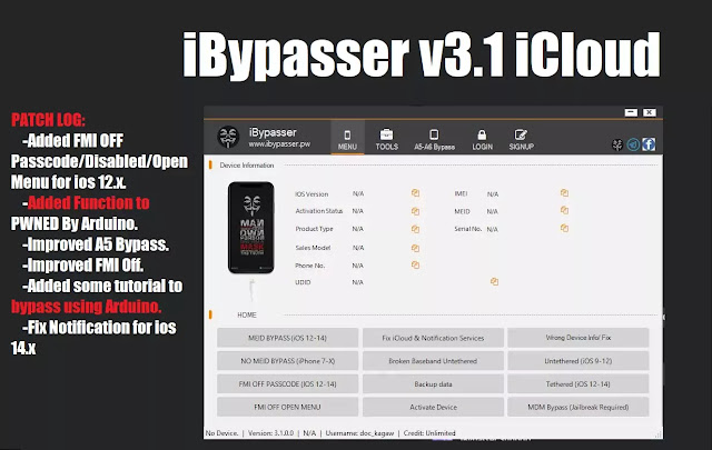 iBypasser v3.1 iCloud bypass tool Free