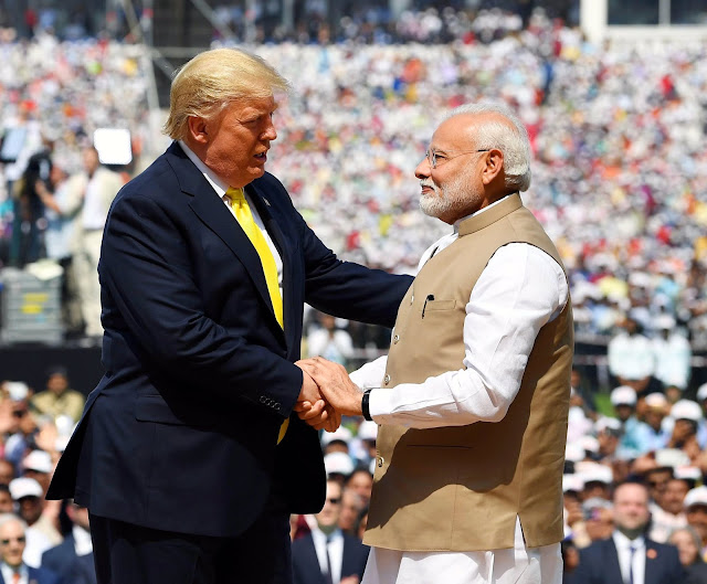 Image Attribute: President Donald Trump with Prime Minister Narendra Modi at Sardar Patel Stadium, Motera / Date: February 24, 2020, / Source: PMO