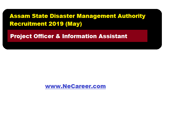 Assam State Disaster Management Authority Recruitment 2019 (May)