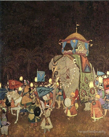 From Arabian Nights book by Edmund Dulac