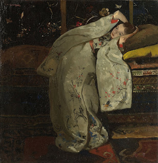 """Girl in a Kimono"" painting by George Hendrik Breitner"