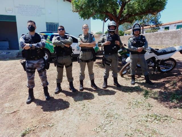 INTEGRAÇÃO POLICIAL com participações de GPM´s leva mais segurança a Santa Cruz dos Milagres.