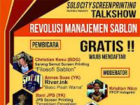 Seminar Revolusi Manajemen Sablon by Solocity ScreenPrinting