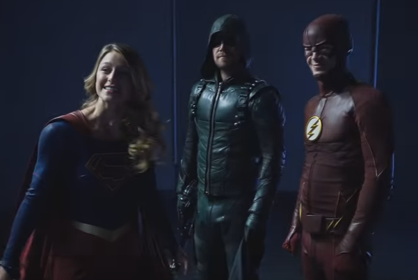 supergirl green arrow the flash