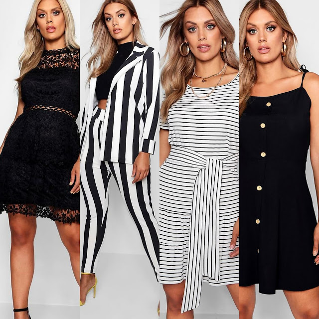 Plus Lace Tiered Skater Dress || Plus Striped Suit Co-ord || Plus Stripe Belted Tiered Smock Dress || Plus Button Down Tie Strap Skater Dress