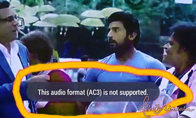 This Audio Format (AC3) is not Supported