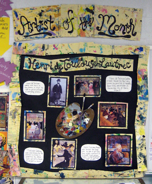 Artist of the Month Bulletin Board