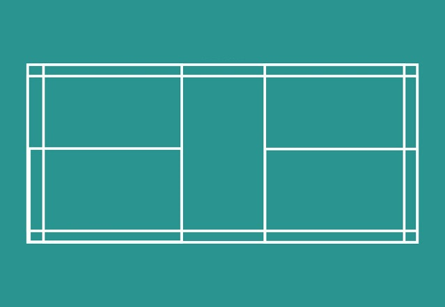 Gambar lapangan badminton