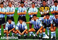 SELECCIÓN OLÍMPICA DE ARGENTINA - Temporada 1996-97 - Almeyda, Sensini, Ayala, Zanetti, Cavallero, Chamot; Claudio López, Ortega, Crespo, Hugo Morales y Christian Bassedas - NIGERIA 3 (Babayaro, Amokachi y Amunike), ARGENTINA 2 (Claudio López y Crespo) - 03/08/1996 - Juegos Oliímpicos de Atlanta 1996, final - Atlanta (Estados Unidos), estadio Stamford - Nigeria se proclama Campeona Olímpica y Argentina se hace con la Medalla de Plata