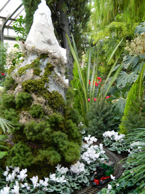 Allan Gardens Conservatory Christmas Flower Show 2015 mountain topiary toy train by garden muses-not another Toronto gardening blog