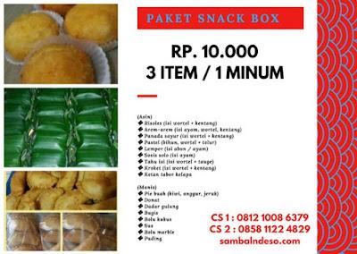 order snack box isi 3 isi 4 di kota Tangerang