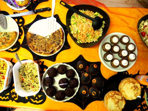 halloween vegan muffins