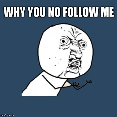 Increase rate of followers on Twitter when no one is following back